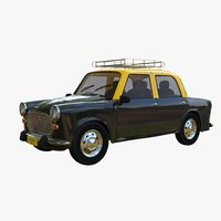 3D ambassador taxi car model