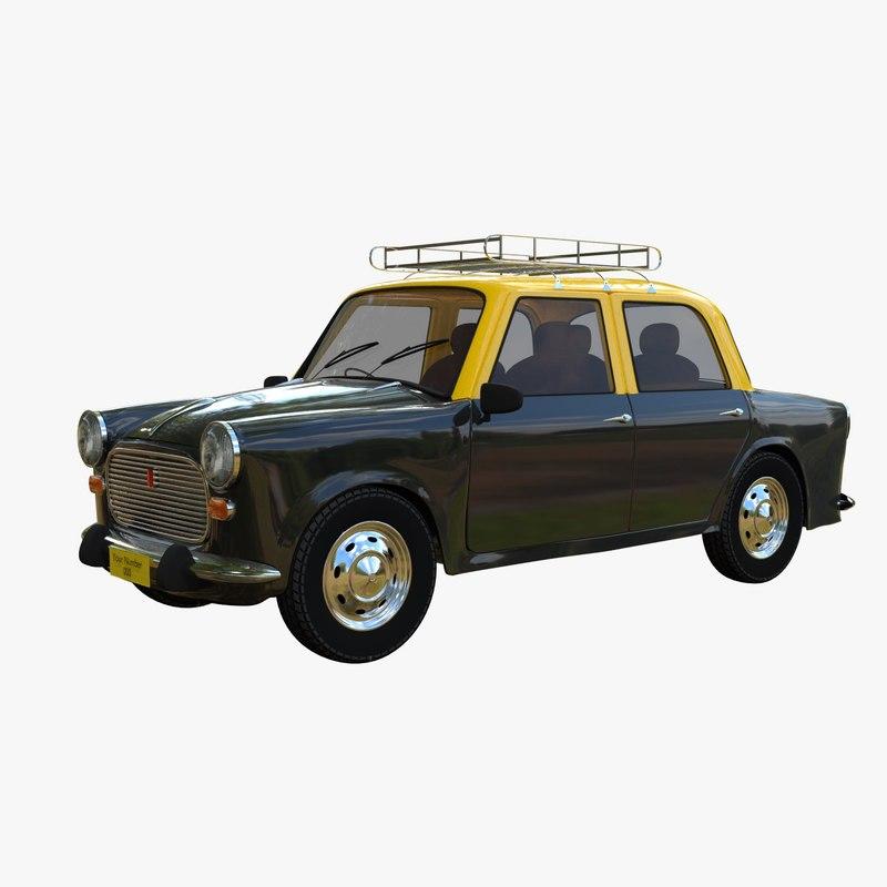 3D ambassador taxi car model