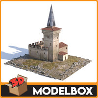 3D maiden tower - kulesi model