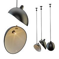 3D chandelier serge mouille