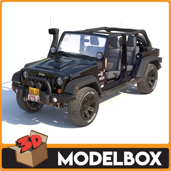 jeep wrangler rubicon 3D model