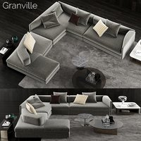 3D minotti granville sofa 2 model