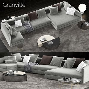 minotti granville sofa 3D model