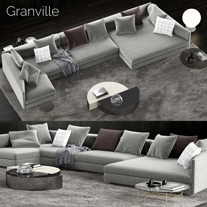 minotti granville sofa 3D model
