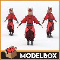 3D model ottoman janissary