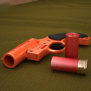 olin gun flare 3D model