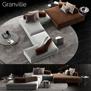minotti granville sofa 4 model