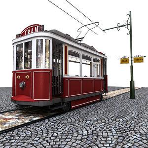3D old tram