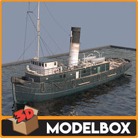 tugboat boat vessel 3D model