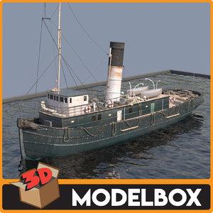 tugboat boat vessel 3D model