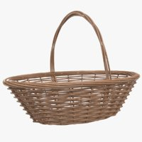 3D real food wicker basket