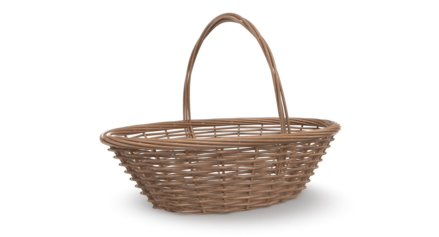 3D real food wicker basket
