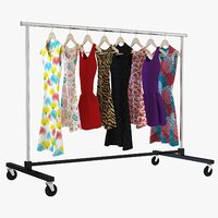 3D dress clothing rack model