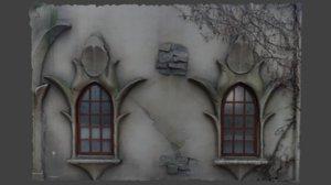 medieval wall efteling fantasy 3D model