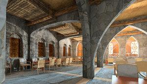 3D restaurant arabian design