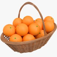 real orange basket 3D