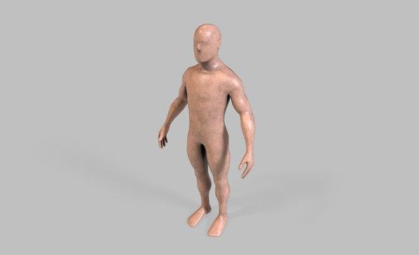 3D human man dummy