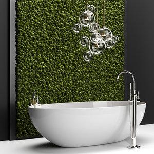 3D bathroom set bath