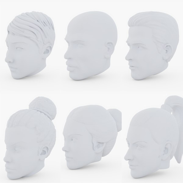 base heads male female model