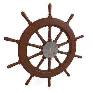 3D ship wheel model