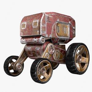 sci-fi robotic vehicle 3D