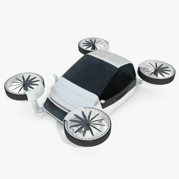 3in1 drone-car-boat hybrid sci-fi 3D model