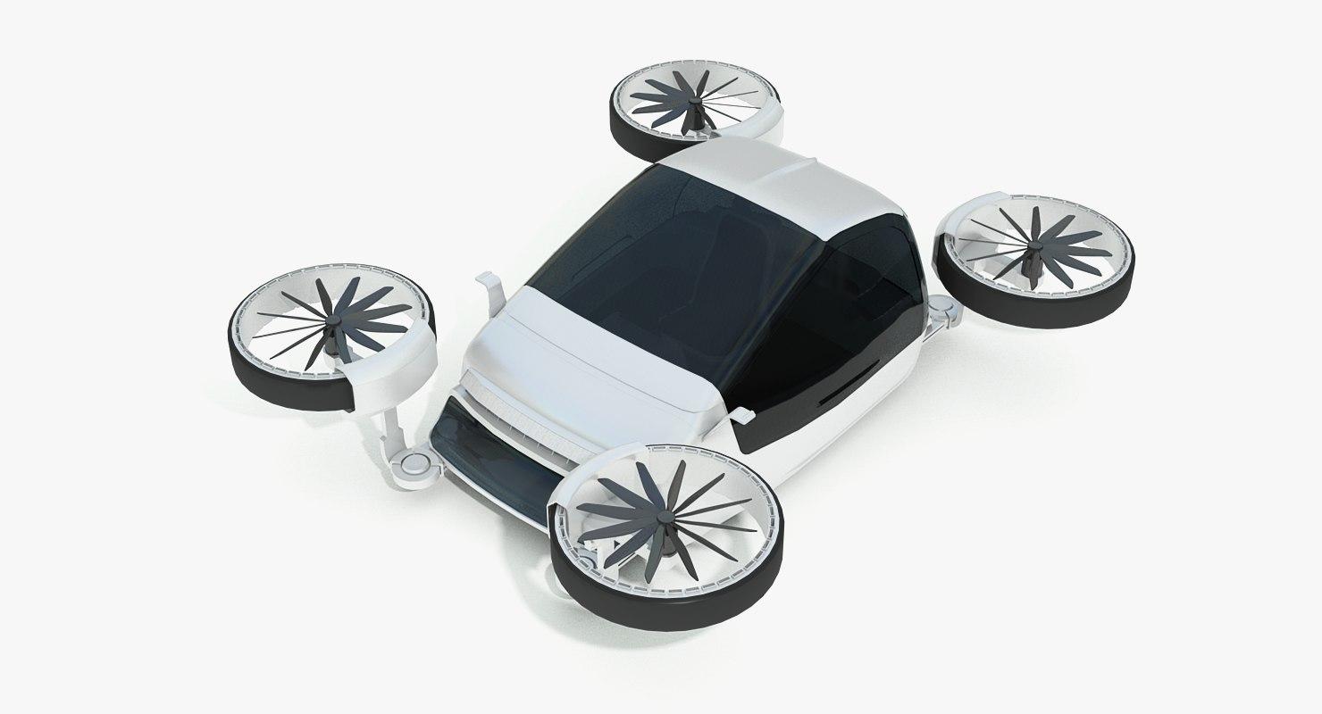 3in1 drone-car-boat hybrid sci-fi 3D model