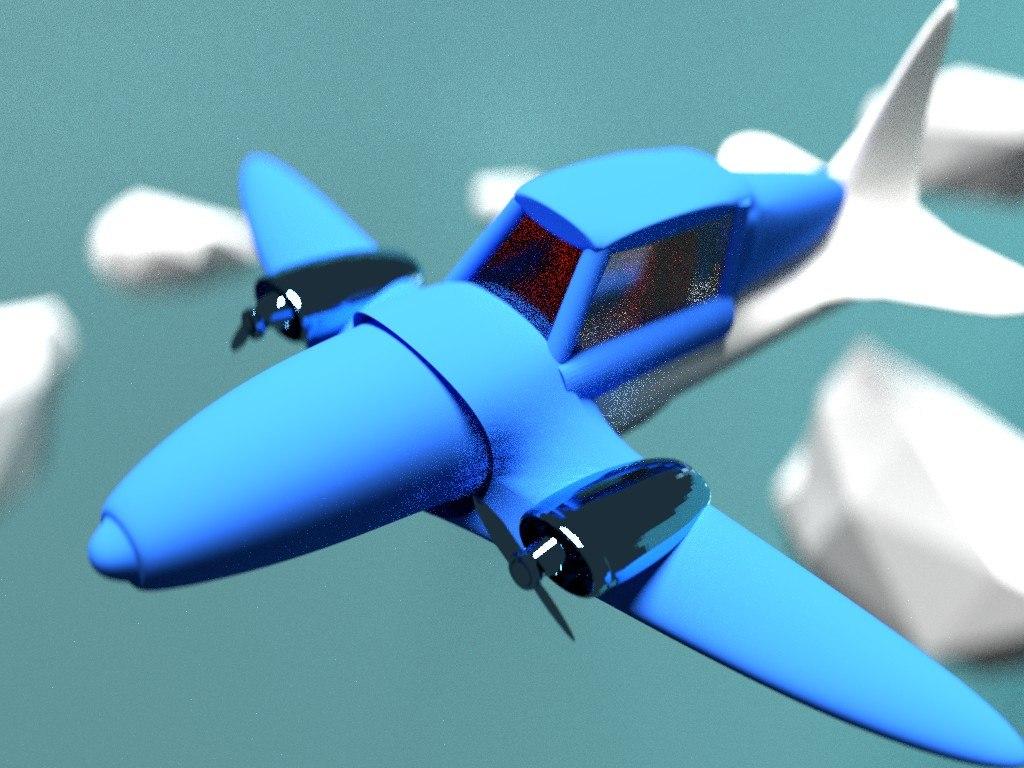 avioneta plane avion 3D model