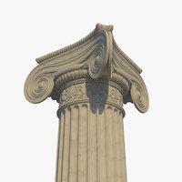 ionic column corner d 3D