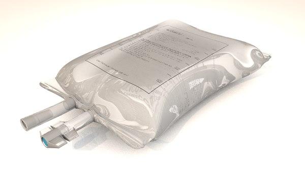 3D model serum glucose liquid bag