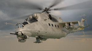 3D mi-24 hind