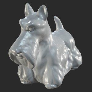 scanned silichem terrier dog model