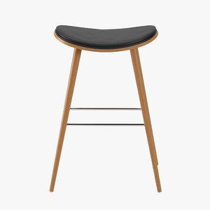 3D realistic bar stool