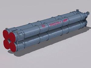 9m100 launcher cell 3D model