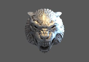 ring tiger sabertooth 3D