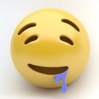 emoji drooling 3D model
