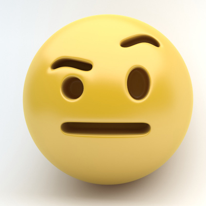 emoji eyebow 3D model