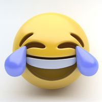 3D model emoji joy