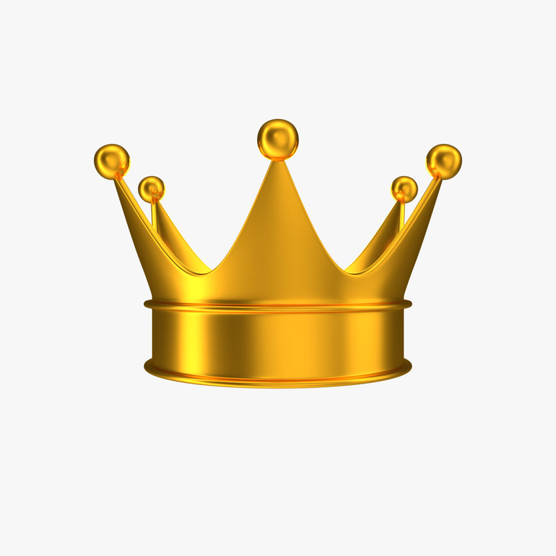 3D model crown icons games