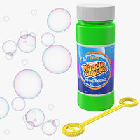 Bubble Wand and Bubbles 3D Models Collection