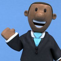 fun business man ! 3D model