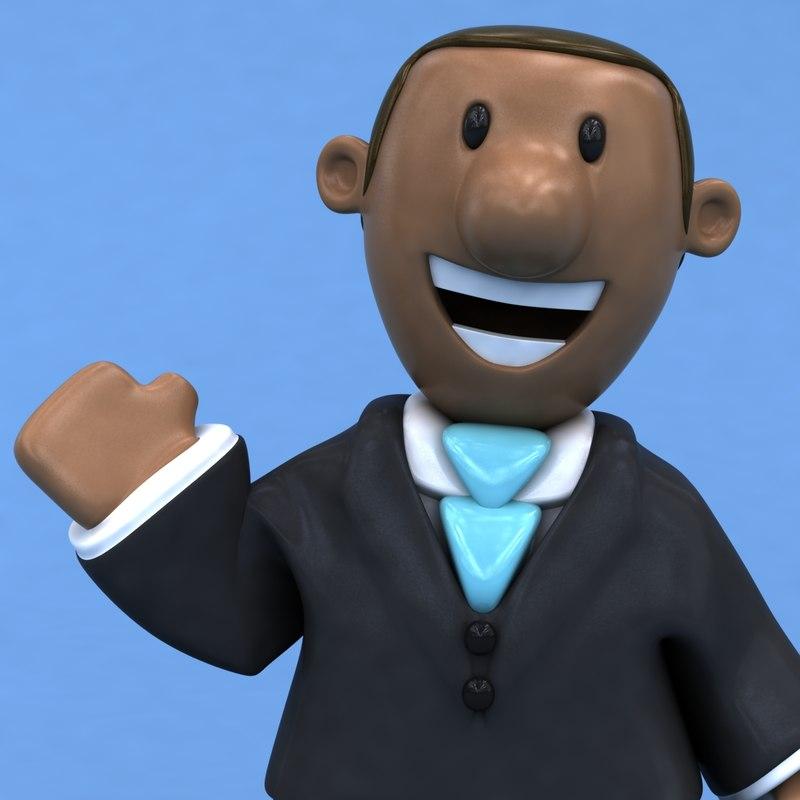 fun business man ! 3D model