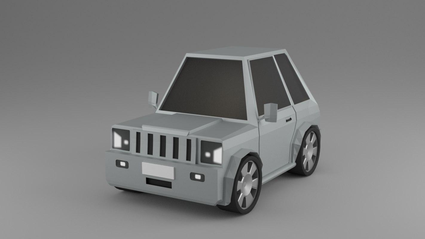 blender car 3D model