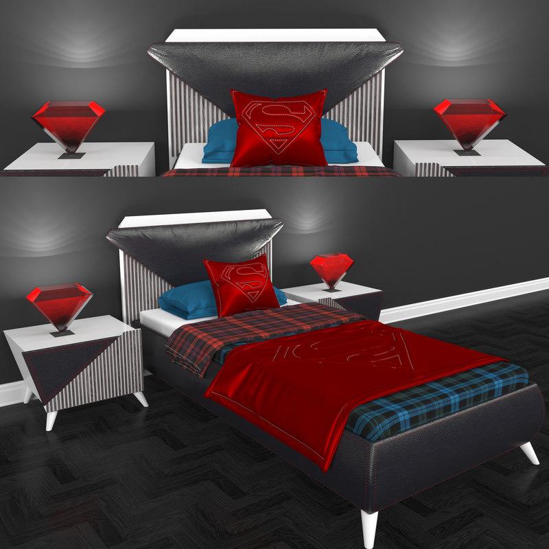 tarz bed 3D model