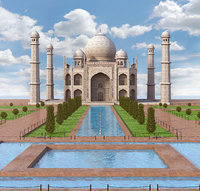 taj mahal palace architecture 3D model