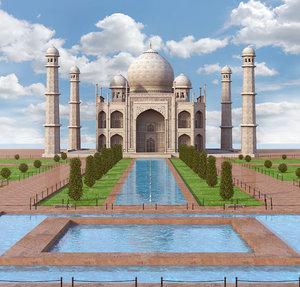 taj mahal palace architecture 3D model