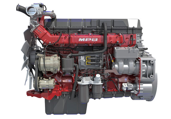 mack mp8 truck engine 3D model