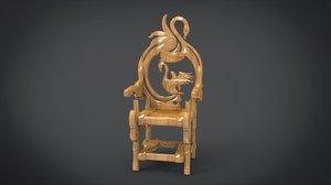 3D unique chair goose motif