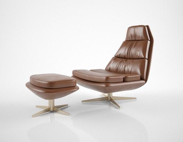 hamilton conte blas armchair 3D model
