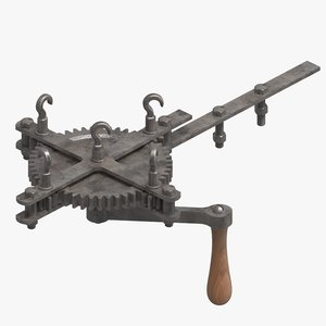 3D model old rope machine